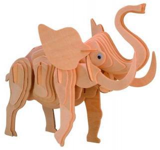 Сборная деревянная модель  Слон Wooden Toys