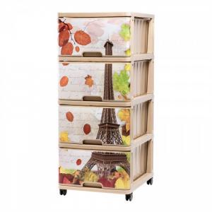 Комод с рисунком Париж Осень (4 ящика) Dunya