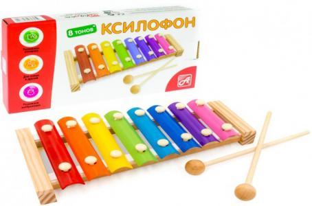 Музыкальный инструмент  Ксилофон (8 тонов) РДИ-Д1013а Анданте