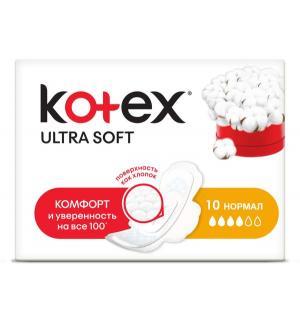 Прокладки гигиенические  Extra Soft Normal, 10 шт Kotex