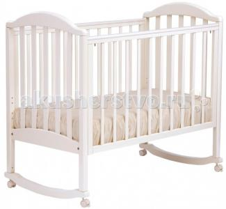 Детская кроватка  АБ 17.0 Лилия Люкс качалка без ящика Кубаньлесстрой