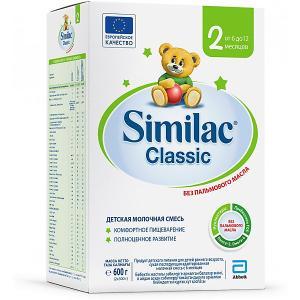 Молочная смесь  Classic 2, с 6 мес, 600 г Similac