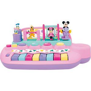 Развивающая игрушка Пианино с животными  Минни Маус и друзья Kiddieland. Цвет: розовый