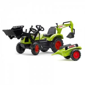 Трактор-экскаватор педальный с прицепом FAL 2070Y Falk