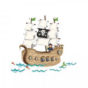 Наклейки для декора Пиратский корабль Roommates