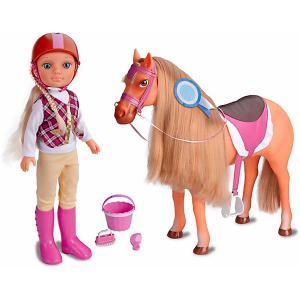 Игровой набор  Нэнси с лошадкой Famosa. Цвет: бежевый