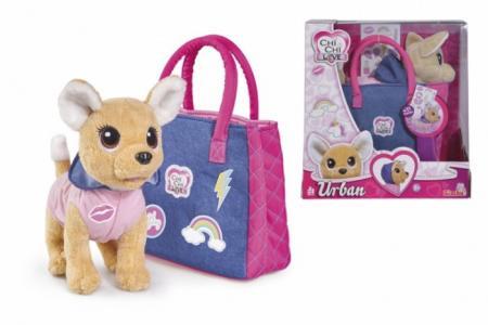 Мягкая игрушка  собачка Городская мода с сумочкой 20 см Chi-Chi Love