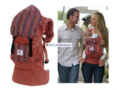 Рюкзак-кенгуру  Organic с вышивкой Ergo Baby