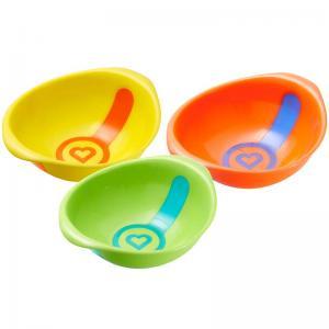 Набор мисок  White Hot 3 шт, цвет: оранжевый/желтый/зеленый Munchkin