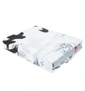 Комплект постельного белья  2-х спальный/нав. 70х70, цвет: белый/серый Василиса