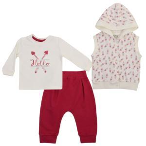 Комплект джемпер/жилет/брюки  Ловец снов, цвет: малиновый Kidaxi