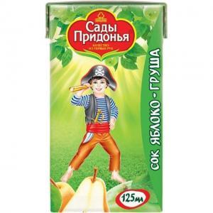 Сок  яблоко-груша, 125 мл Сады Придонья