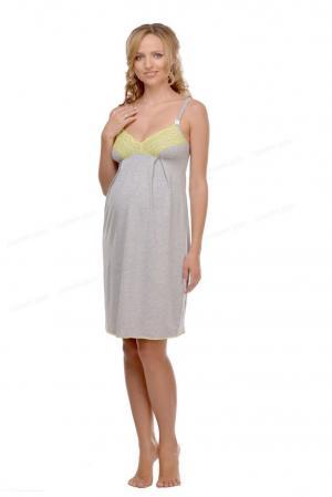 Рубашка ночная Меланж для кормления, цвет: серый Мамин Дом