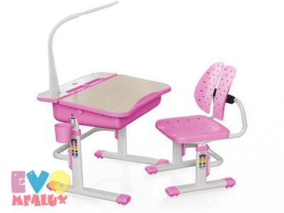 Комплект мебели столик и стульчик EVO-03 с лампой Mealux