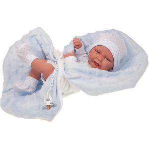 Кукла-младенец  Матео в голубом, 42 см Munecas Antonio Juan. Цвет: голубой