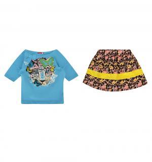 Комплект футболка/юбка , цвет: голубой Pelican