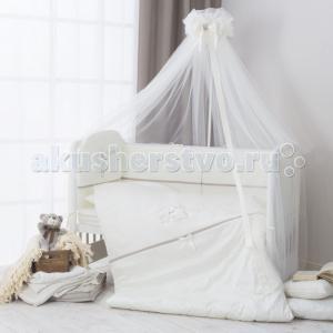 Комплект в кроватку  Le Petit Bebe из сатина (6 предметов) Perina