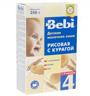Каша  молочная рисовая с курагой 4 месяцев 250 г Bebi