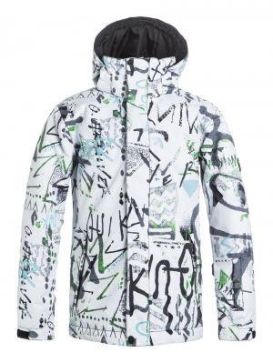 Куртка  Mission Printed, цвет: белый Quiksilver