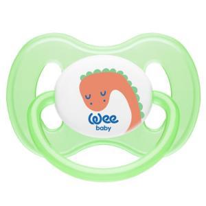 Соска-пустышка  ортодонтическая BUTTERFLY, с рождения, зеленая WeeBaby