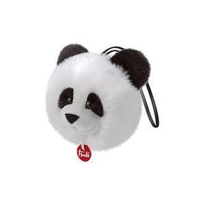Мягкая игрушка  Панда-пушистик на веревочке, 12×11×9 см Trudi. Цвет: белый