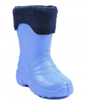 Резиновые сапоги утепленные (голубые) Lemigo. Цвет: голубой
