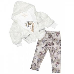 Комплект для девочки жакет, лонгслив и джинсы 3273 Baby Rose