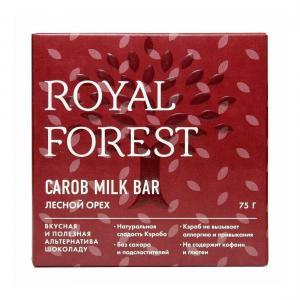 Шоколад  Carob milk bar лесной орех, 75 г Royal Forest