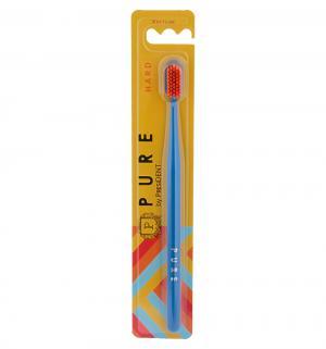 Зубная щетка  Pure жесткая, цвет: синий President