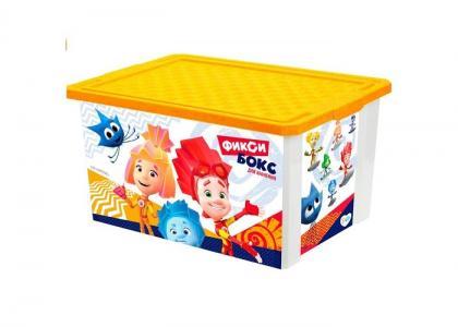 Ящик для хранения игрушек 57 л Фиксики