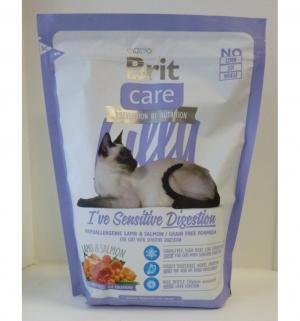 Сухой корм  Care Lilly Sensitive Digestion для взрослых кошек с чувствительным желудком, 400г Brit