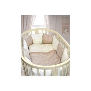 Комплект постельного белья  Emily, цвет: бежевый 6 предметов наволочка 60 х 40 см Labeillebaby