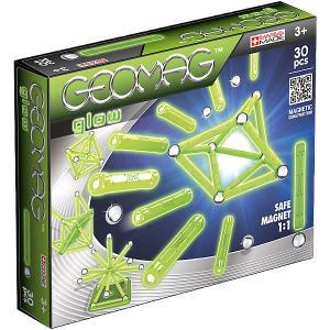 Магнитный конструктор  Glow, 30 деталей Geomag