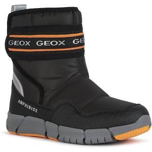 Утеплённые сапоги Geox. Цвет: оранжевый/черный