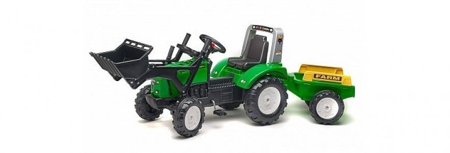 Трактор-экскаватор педальный с прицепом FAL 202 Falk