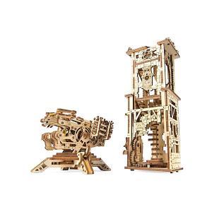 Сборная модель Ugears Башня-аркбаллиста. Цвет: разноцветный
