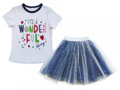 Комплект футболка и юбка Клубничка Soni Kids