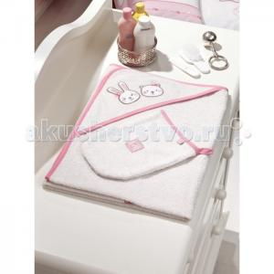 Полотенце-уголок Lily Milly 90х90 + варежка Fiorellino