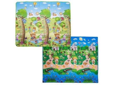 Игровой коврик  Растем вместе и Прогулки в парке 200х180х0.5 см BabyPol