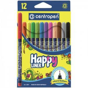 Набор капиллярных ручек Happy Liner 0.3 мм 12 цветов Centropen
