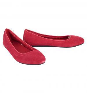 Туфли  Lina Suede Flat Flame, цвет: красный Crocs