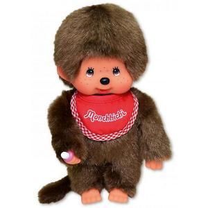 Мягкая игрушка  Мончичи, мальчик в красном слюнявчике, 20 см Monchhichi