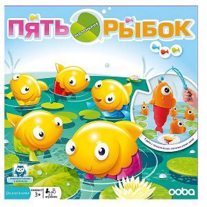 Настольная игра  Пять маленьких рыбок Ooba. Цвет: разноцветный