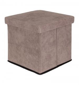 Пуф складной с ящиком для хранения, цвет: серый El Casa