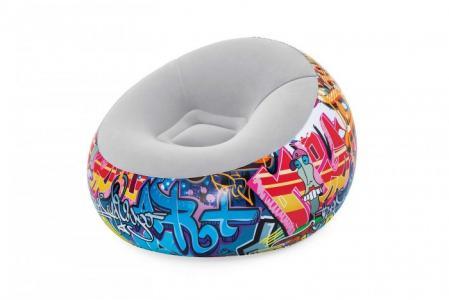Надувное кресло Inflate-A-Chair Graffiti Bestway