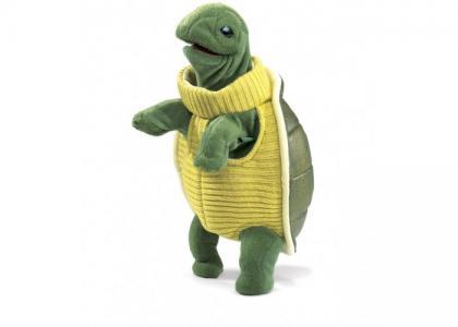 Мягкая игрушка  Черепашка в водолазке 30 см Folkmanis