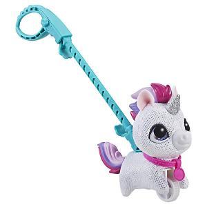 Мягкая игрушка FurReal Friends Маленький питомец на поводке Единорог Hasbro