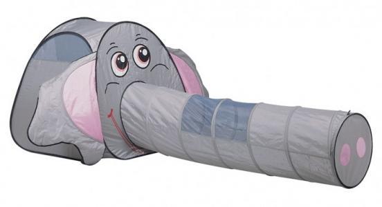 Палатка-домик с туннелем + 100 шаров Слоник Calida