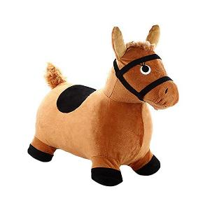Мяч-прыгун Shantou Gepar Лошадка, коричневая Gepai. Цвет: коричневый