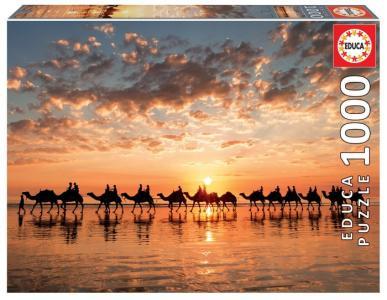 Пазл Закат на пляже Кейбл Бич (1000 деталей) Educa